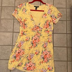 Forever 21 Floral Tellow Dress